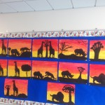 African Art Display in our corridor.