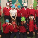 5th Class ready to show off their magical masks.